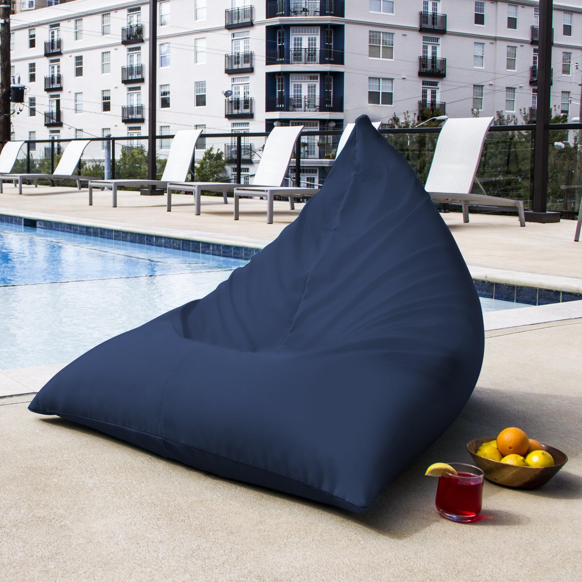 Bon Jaxx Twist Outdoor Bean Bag Chair U0026 Reviews | Wayfair