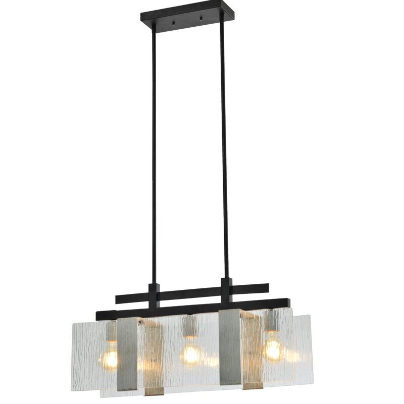 Ivy Bronx Mukilteo 3 Light Kitchen Island Linear Pendant Wayfair
