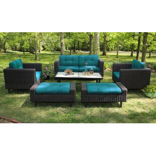 Mekhi Deep Seating Group with Sunbrella Cushions by Beachcrest Home