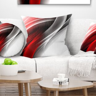 Abstract 3D Vertical Lines Throw Pillow