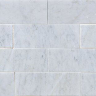 3 X 8 Marble Subway Tile In White Carrara