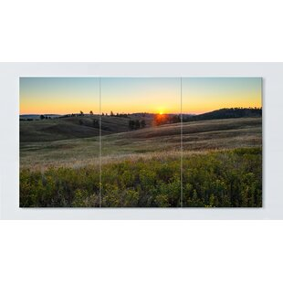 Sunrise Motif Magnetic Wall Mounted Cork Board By Ebern Designs