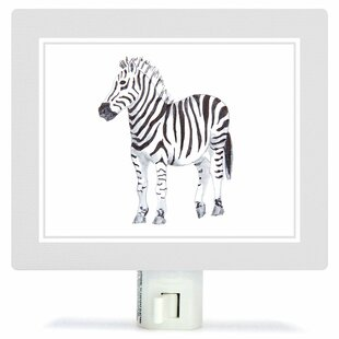 Oopsy Daisy Animal Kingdom - Zebra by Brett Blumenthal Canvas Night Light
