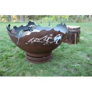 Mustang Freedom Steel Fire Pit By Cedar Creek Sculptures