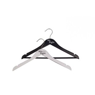 Buy clear 2 Piece Mr. Right and Mrs. Always Right Bridal Hanger Set By NAHANCO