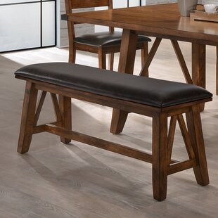 Loon Peak Moree Faux Leather Dining Bench