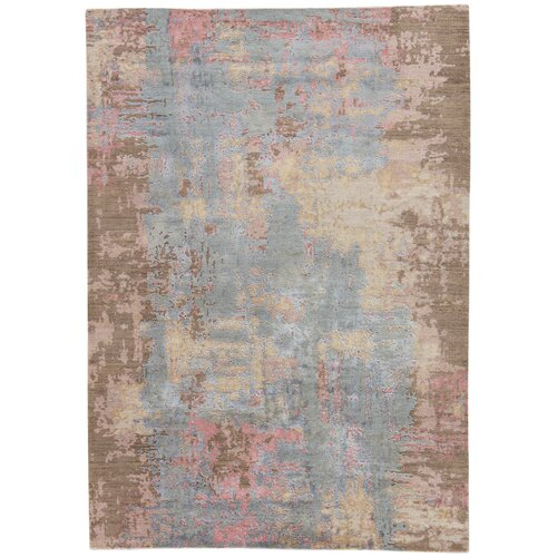 17 Stories Fruithurst Abstract Hand Knotted Gray Brown Area Rug Wayfair
