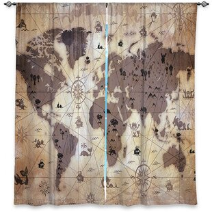 Map curtains wayfair caila angelina vicks window whimsical world map i room darkening curtain panels set of 2 gumiabroncs Image collections