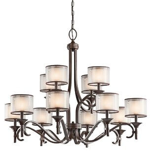 Darby Home Co Lightle 12-Light Drum Chandelier