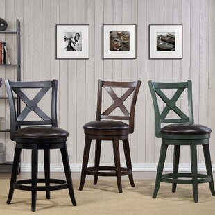 Hassell 24 Swivel Bar Stool by Alcott Hill