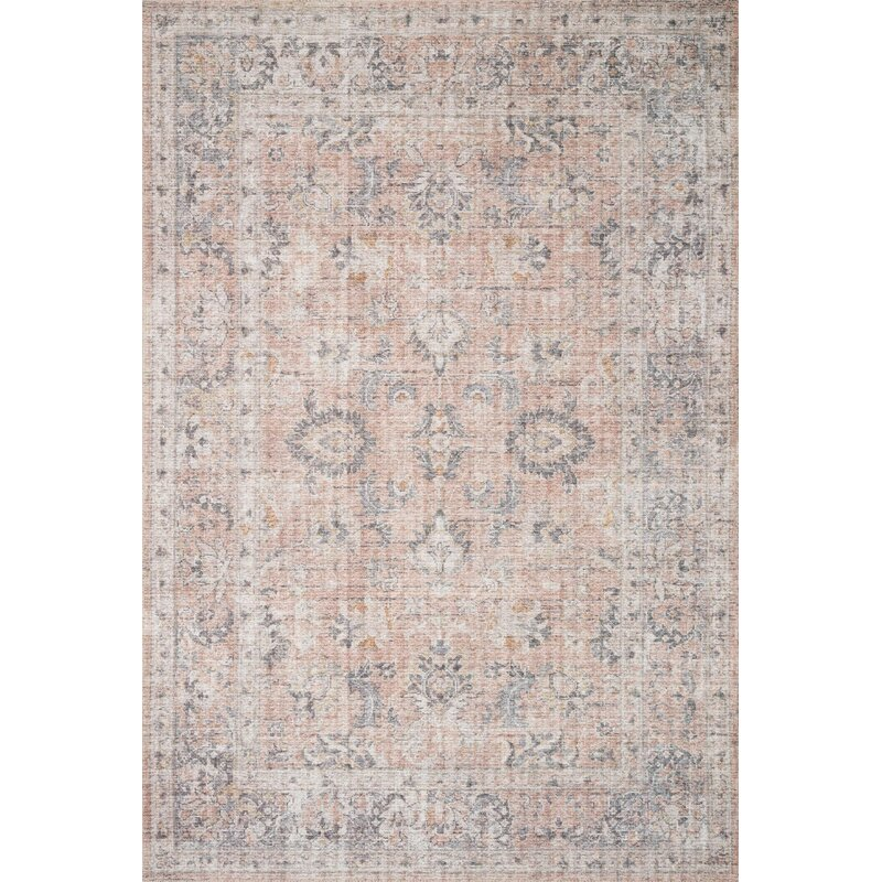 Skye Persian Inspired Blush Gray Area Rug Reviews Joss Main