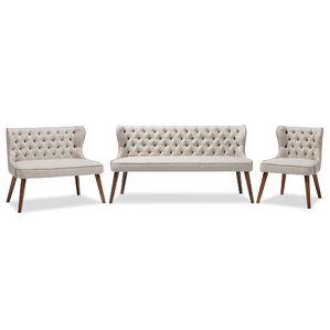Santo 3 Piece Living Room Set by Wholesale Interiors
