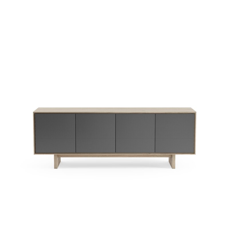 """BDI Octave TV Stand for TVs up to 70""""  Color: Drift Oak/Gray"""
