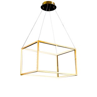 Gaitan LED Square/Rectangle Pendant by Everly Quinn