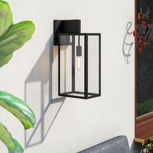 Brayden Studio Burnam 1-Light Outdoor Wall Lantern