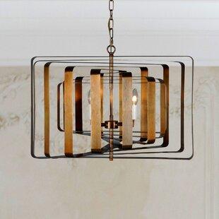 Brayden Studio Seevers 4-Light Geometric Chandelier