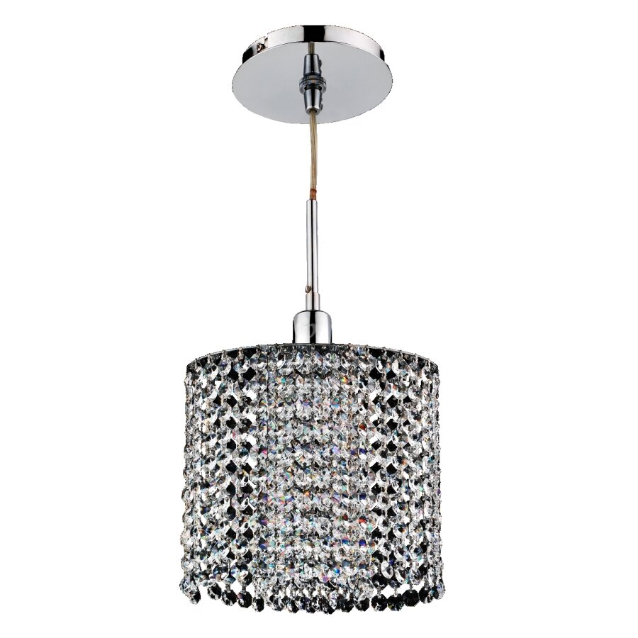 House Of Hampton Pakswith Crystal 1 Light Single Drum Pendant Wayfair