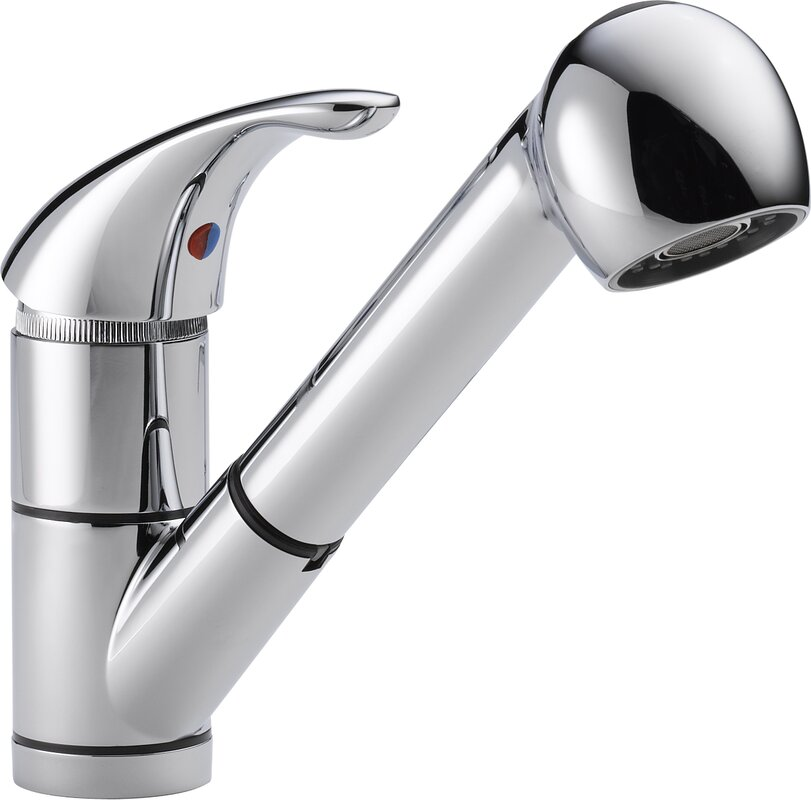 Peerless Faucets Single Handle Centerset Kitchen Faucet with Pull ...