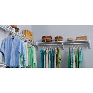 Closet System Wall Shelf by EZ Shelf from Tube Technology