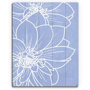 737252e239a  Periwinkle Dahlias  Painting Print on Plaque
