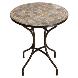 Hillesden Mosaic Round Indoor/Outdoor Metal Bistro Table