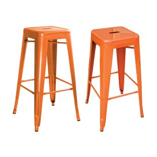 Compare prices Herbst 17 Bar Stool (Set of 2) by Ebern Designs Reviews (2019) & Buyer's Guide