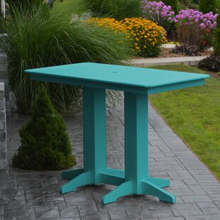 Nettie Plastic/Resin Dining Table by Red Barrel Studio