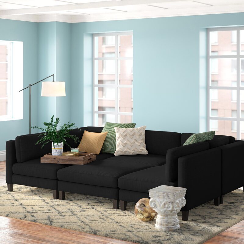 Chelsea 120 Wide Symmetrical Modular Sectional Reviews Joss Main