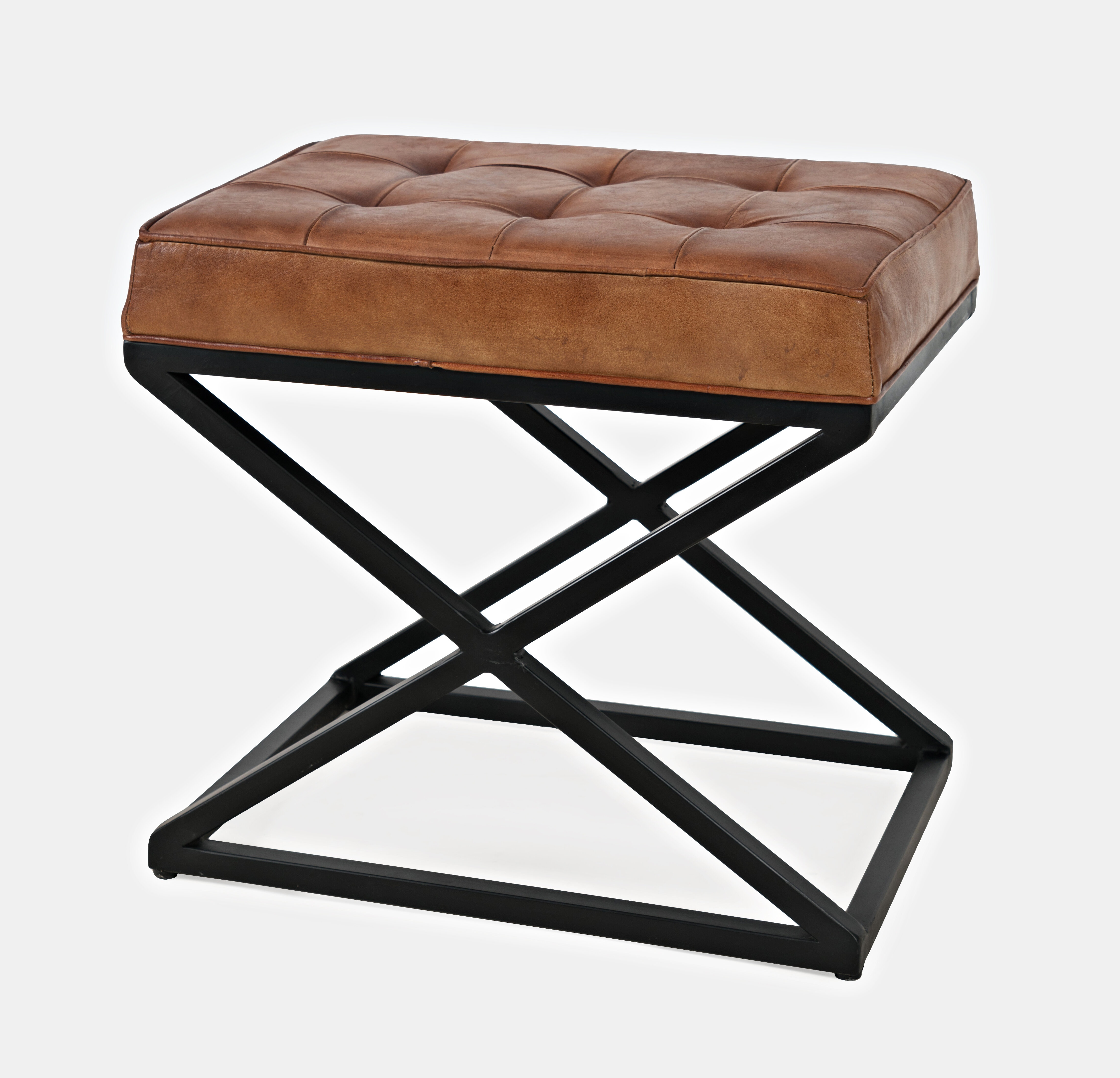 Awesome Lorilee Leather Tufted Ottoman Uwap Interior Chair Design Uwaporg