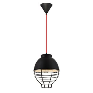 Lupo 1-Light Globe Pendant by Wrought Studio