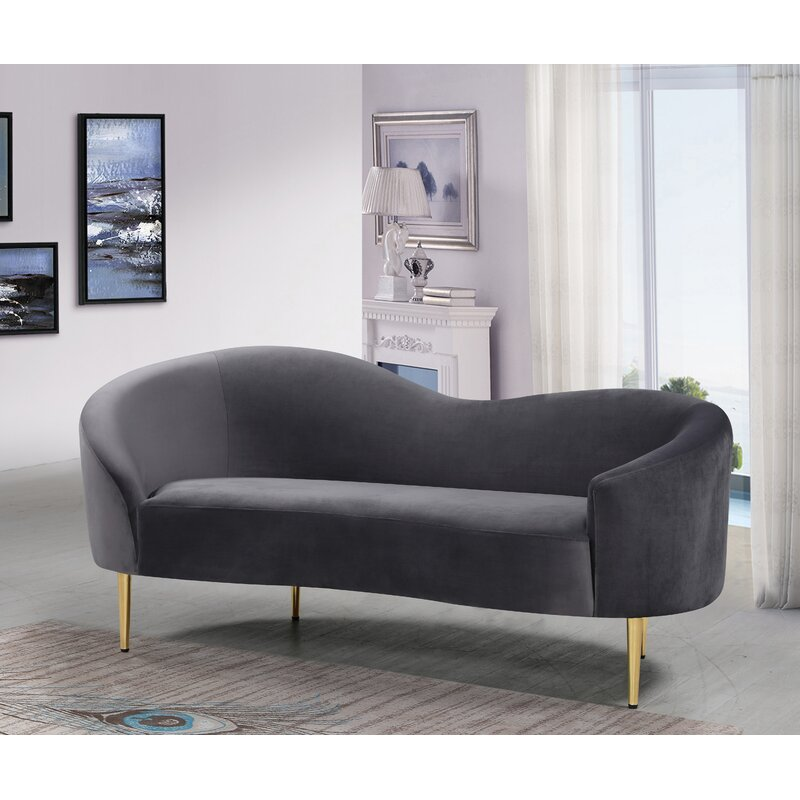 Ayva Curved Loveseat