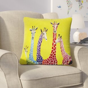 Korey Giraffes Throw Pillow