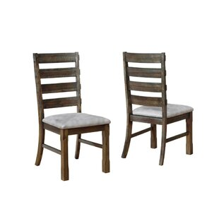 Gracie Oaks Shunk Solid Wood Dining Chair (Set of 2)