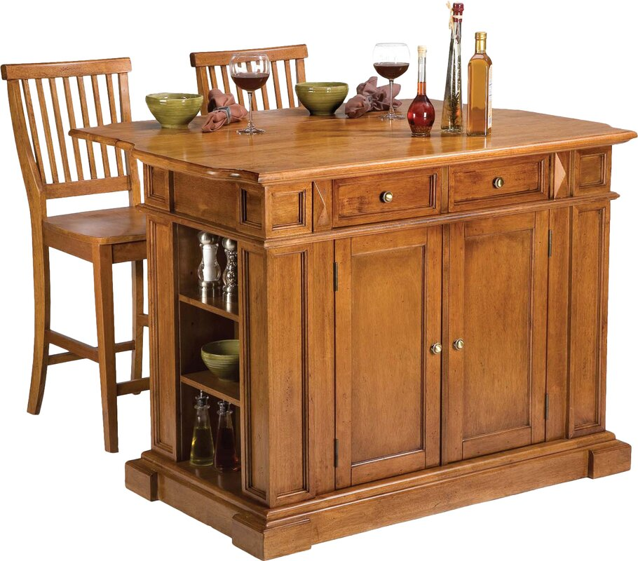 High Quality Mattice 3 Piece Kitchen Island Set