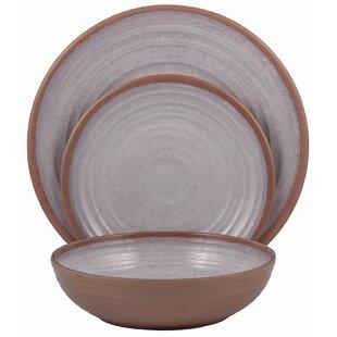 Melange 36-Piece Melamine Dinnerware Set (Clay Collection)