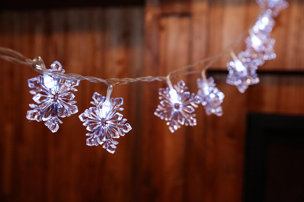 FestivalDepot 20-Light 160 Inches. Snowflake String Lights \u0026 Reviews | Wayfair