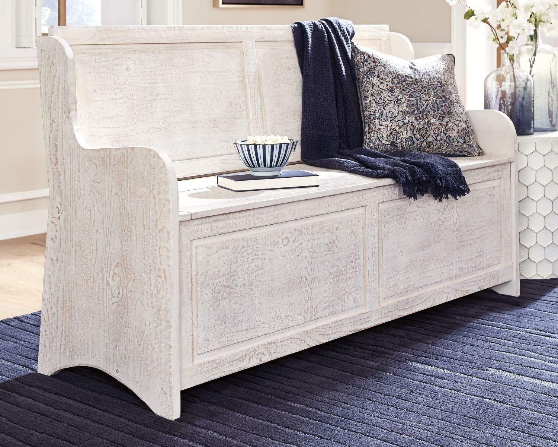 Ophelia Co Whitmire Solid Wood Flip Top Storage Bench Wayfair