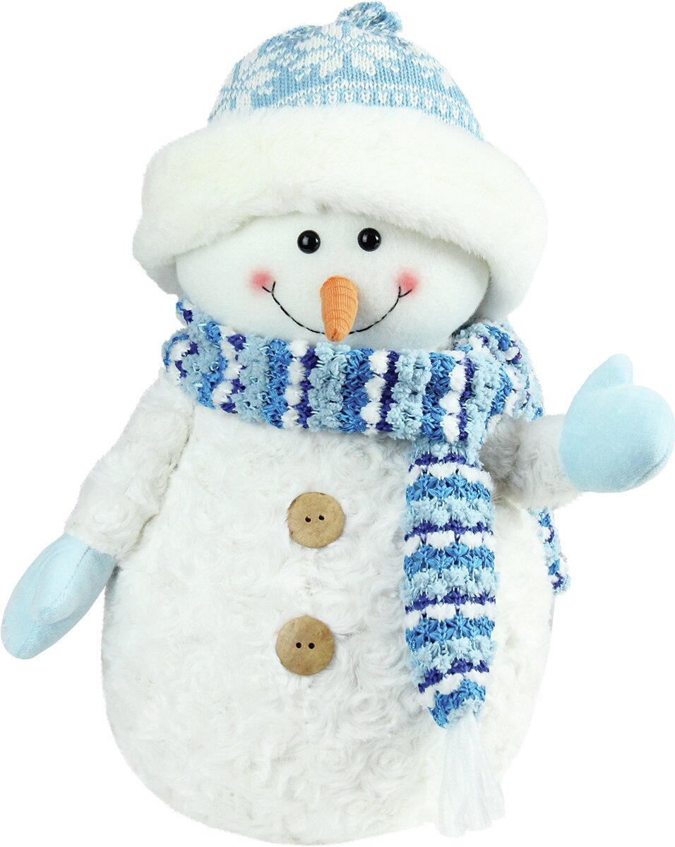 The Holiday Aisle Arctic Snowman Wearing Knit Hat Christmas Decoration    Reviews  aef2efd11dd