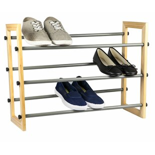 Affordable Expandable 3-Tier 9 Pair Shoe Rack By Sunbeam