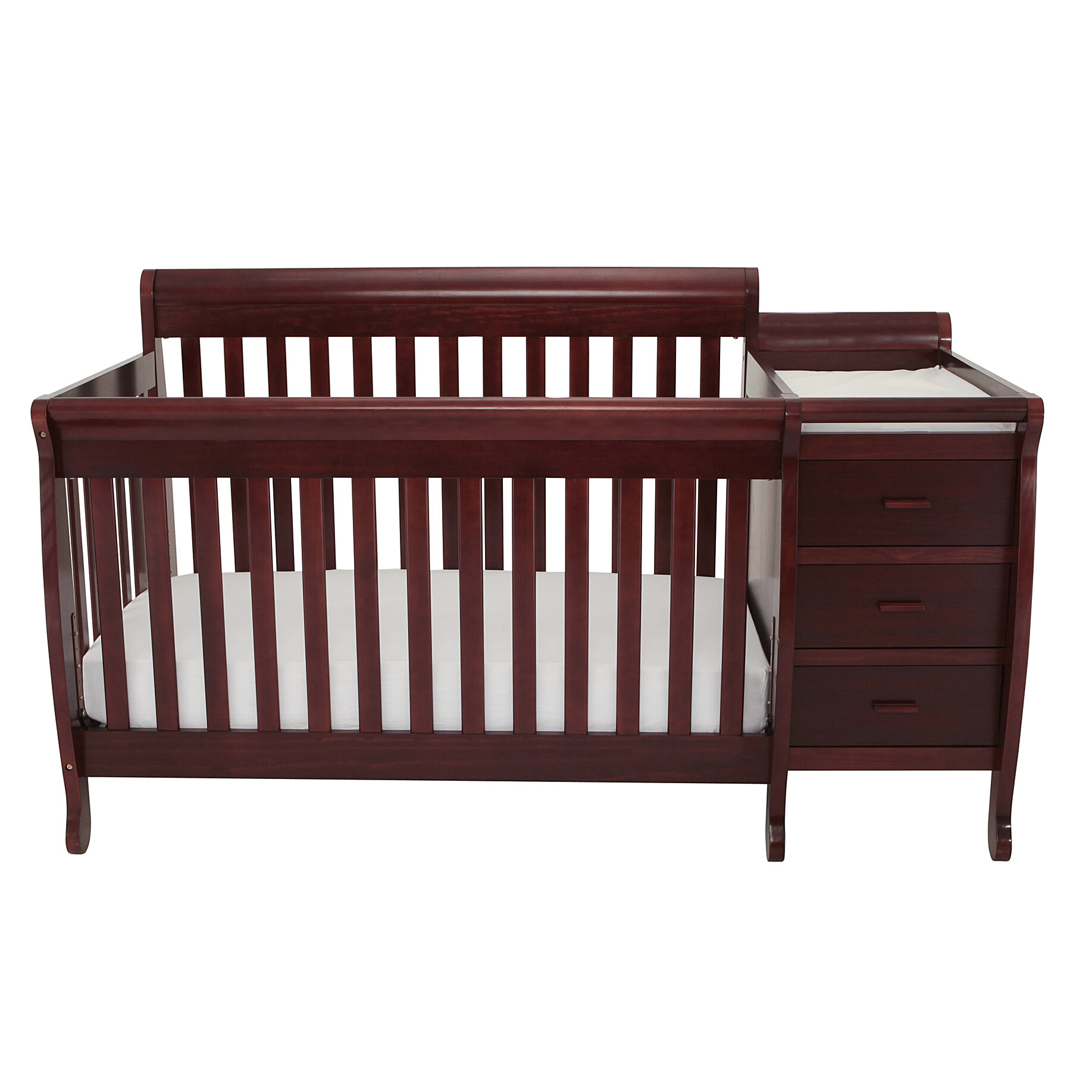 attached cribs weathered set and elite table grey changer crib furniture off white in convertible with ivory changing dresser