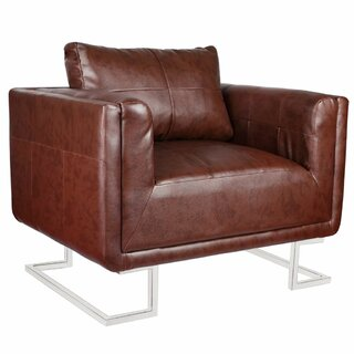 Almaraz Luxury Cube Armchair by Union Rustic SKU:DE520175 Details
