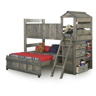 Allanton Twin Over Full L-Shaped Bunk Bed by Harriet Bee New