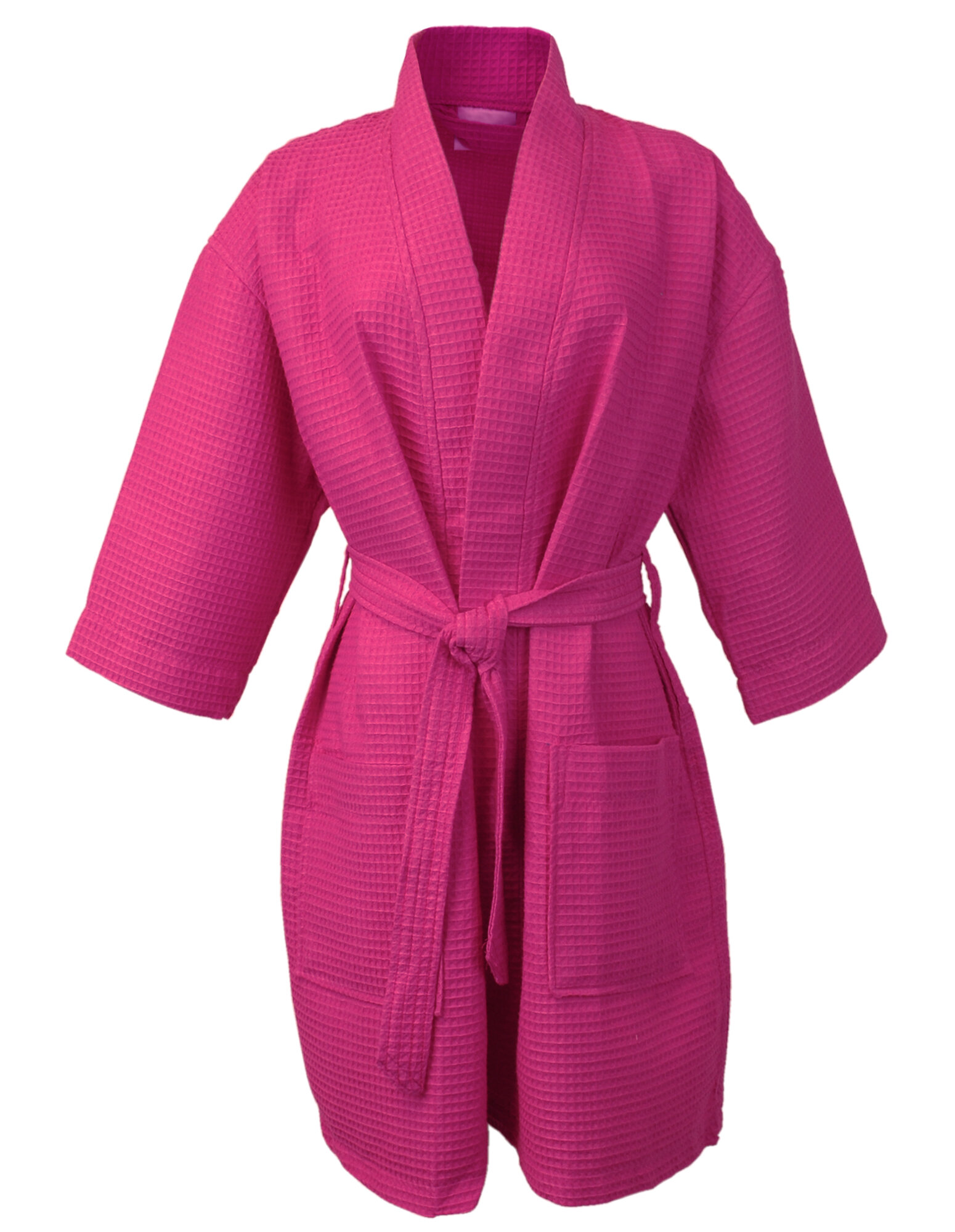Bare Cotton Thigh Length Kimono Cotton Blend Waffle Bathrobe  b4822b64e