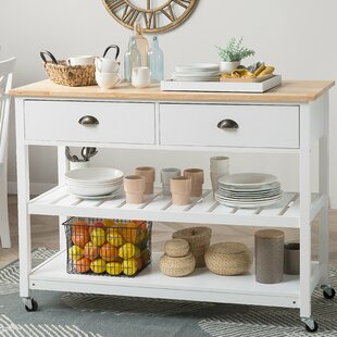 Margaux Kitchen Island With Rubberwood Top By Brambly Cottage