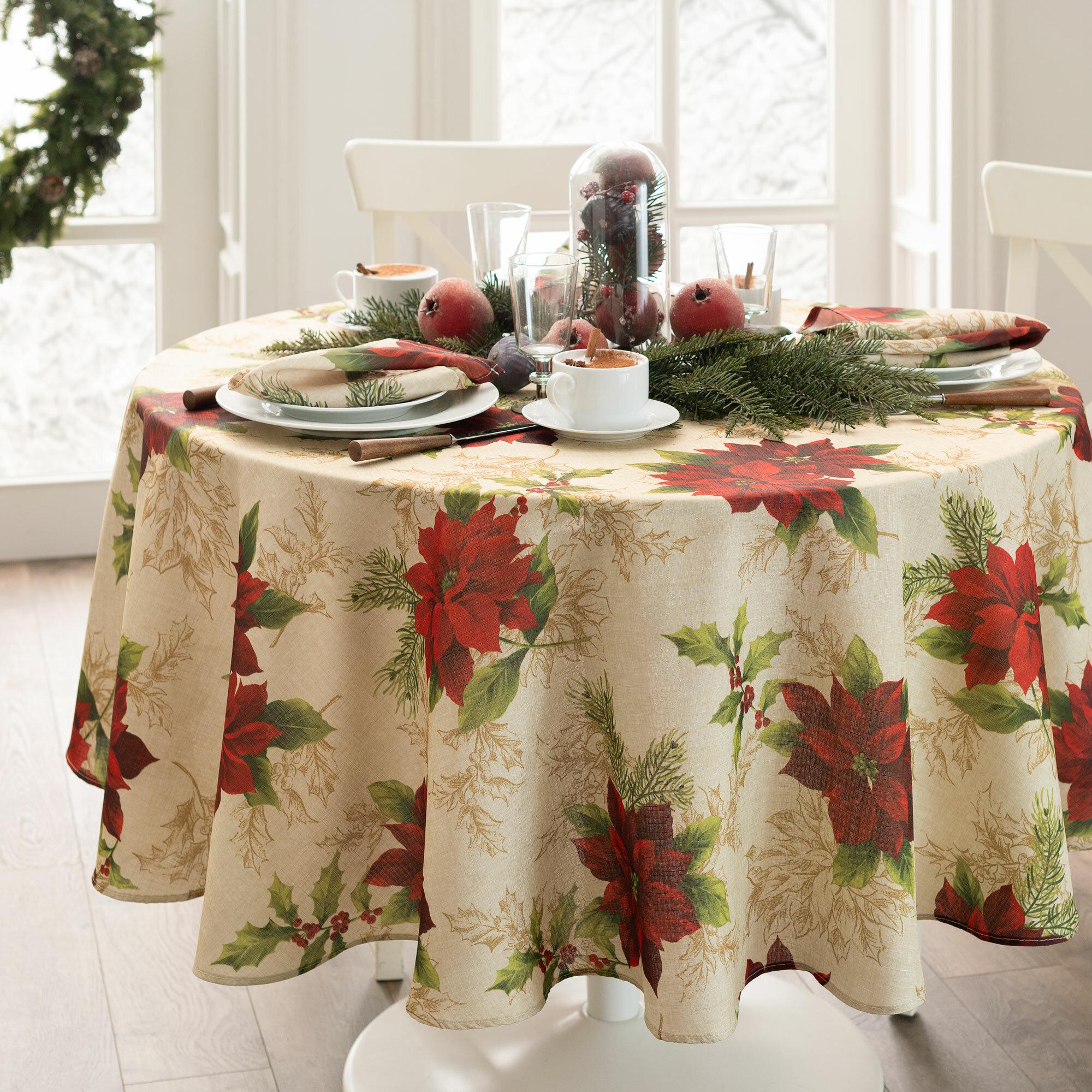 The Holiday Aisle Holbrooke Oval Christmas Tablecloth Reviews
