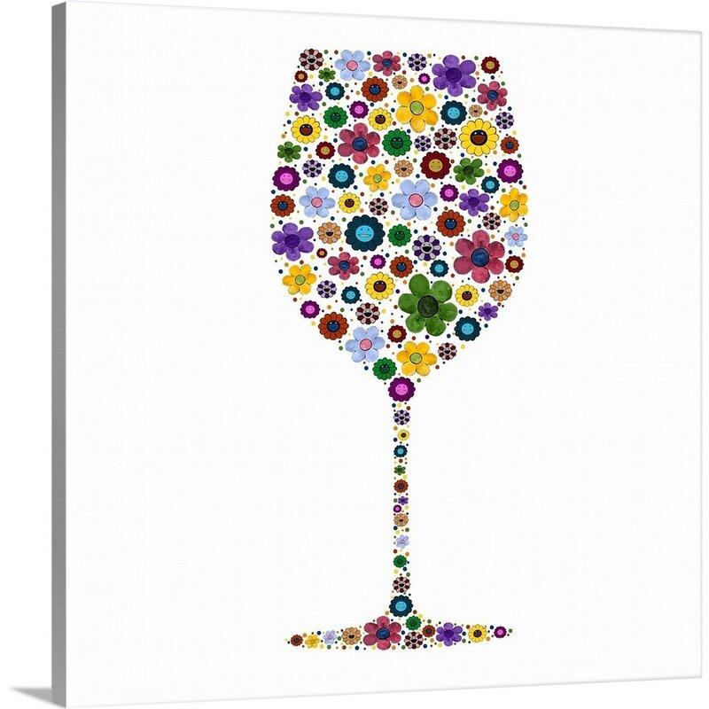 Latitude Run Wine Glass Party Ii Painting On Canvas Wayfair
