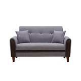 Sumrall Velvet 57.5 Wide Round Arm Loveseat by George Oliver