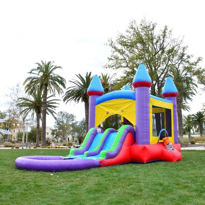 Jelly Bean Dual Slides Bounce House HeroKiddo