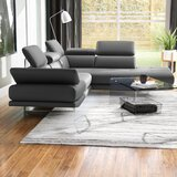 Gridley 104 Genuine Leather Right Hand Facing Sofa & Chaise by Wade Logan®