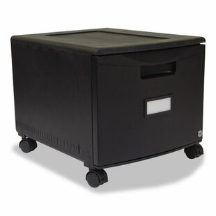 Storex 1-Drawer Mobile Lateral filing cabinet